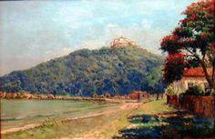 Convento da Penha, Vila Velha, ES, s/d Levino Fanzeres (Brasil, 1884-1956) óleo sobre tela, 54 x 81 cm