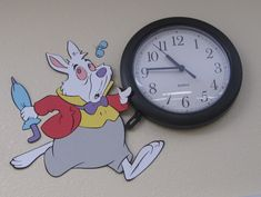 #Teach #Teaching #ClassroomDecor #Decor #Decorate #Decorations #Disney #AliceInWonderland #Clocks #Clock