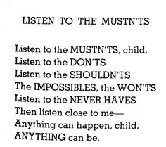 'anything can be' poem by shel silverstein