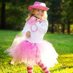 Pink Cowgirl Tutu Costume hat bandana tutu by happycakescreations