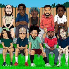 Pick 3 rappers you wish you grew up with as a teenager. Migos Wallpaper, Rap Wallpaper, Dope Cartoon Art, Dope Cartoons, Black Cartoon, Chris Brown Wallpaper, Drake Wallpapers, Iphone Wallpapers, Rihanna