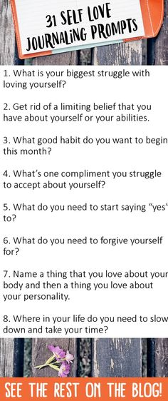 31 Journaling Prompts for Self Love - Blessing Manifesting love journal 31 Journaling Prompts for Self Love - Blessing Manifesting Bujo, Journaling, Journal Questions, Therapy Journal, Journal Writing Prompts, Journal Topics, Stress, Self Discovery, Me Time