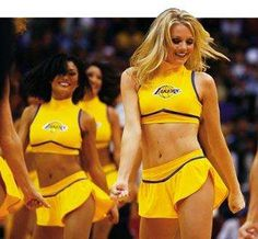 The World Famous Laker Girls Cheerleading Uniforms, Football Cheerleaders, Lakers Girls, Larry Bird, Oklahoma City Thunder, Female Stars, Houston Rockets, New York Knicks, Nba Players