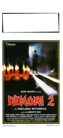 Demoni 2 Italian Movie Poster Demons 2 Filmes Coralina E Anos 80