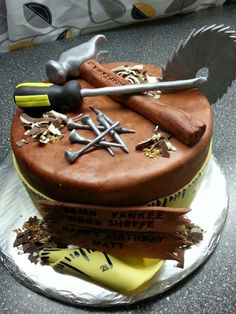 Wood Worker & Tools Cake by Sarah's Kitchen