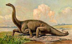 "10 Odd Early Interpretations of Dinosaurs | Mental Floss.  Heinrich Harder, ""Diplodocus""  (CB:  We begin landscape studies next week.  This is terrific inspiration.)"