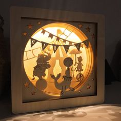 Circus shadow box - Circus - circus themed party - Old circus nursery -Circus nursery decor -Circus lamp -Circus night light -Vintage circus Circus Room, Old Circus, Circus Theme, Moon Nursery, Bear Nursery, Nursery Themes, Nursery Decor, Vintage Circus Nursery, Circus Decorations