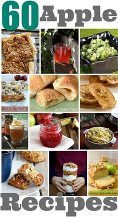 60 Favorite Apple recipes, including some great apple recipes sure to please your kids!