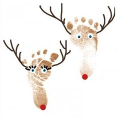 DIY Rudolph: You can even do this on a ceramic or porcelain plate. Then put It in the oven for 30 mins on 300 degrees, or use a kiln #keepsake