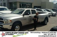 Ive been wanting and inmiring your great dodge pickups until today I decided to stop by and bobby Crosby sold me one and he wast most helpful and went over the mile to get my vehicle home. - AMALIA RAMIREZ, Tuesday, June 10, 2014 http://www.dodgecityofmckinney.net/?utm_source=Flickr&utm_medium=DMaxxPhoto&utm_campaign=DeliveryMaxx
