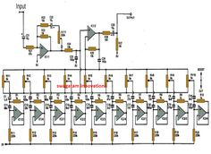 The proposed 10 band graphic equalizer circuit can be used in conjunction with any existing audio amplifier system to get an enhanced 10 stage audio processing, and customized tone control. Electronics Mini Projects, Electronics Basics, Electronic Circuit Projects, Power Supply Circuit, Audio Amplifier, Audiophile, Emergency Lighting, Circuit Diagram, Arduino