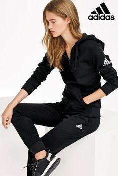 adidas Black Essential Full Zip Hoody