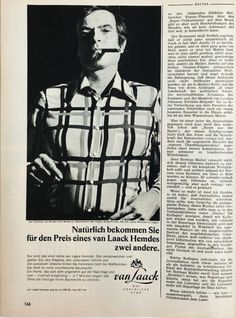 Marcel Broodthaers in a March, 1971 issue of Germany's Der Spiegel magazine.