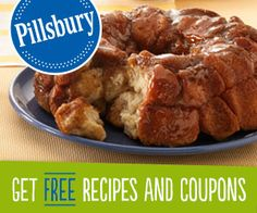 Get $250 in printable coupons and monthly FREE sampling opportunities from Pillsbury!