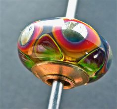 Handmade lampwork glass bead by FireForgedStudio