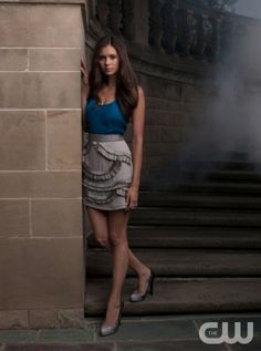 The Vampire Diaries  Pictured: Nina Dobrev as Elena  Photo Credit: Andrew Eccles / The CW   2009 The CW Network, LLC. All Rights Reserved.