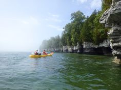 Kayaking Cave Point County Park in Sturgeon Bay, WI