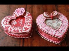 New Video by Julia M Usher: How to Assemble 3-D Cookie Heart Boxes, just in time for Valentine's Day!