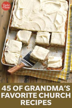65 Potluck Desserts So Good You'll Bring Home an Empty Dish - 65 Easy Potluck Desserts to Feed a Crowd Potluck Desserts, Potluck Dishes, Potluck Recipes, Köstliche Desserts, Delicious Desserts, Dessert Recipes, Cooking Recipes, Yummy Food, Cooking Time
