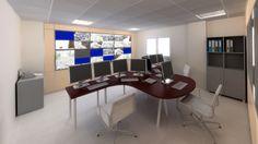 Infografia Sala de Control Tráfico. Categorías: Infografía, Diseño y Animación 3D