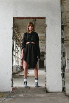 Black Ponco Outerwear Cape Women's Fall Fashion Trend by artlab