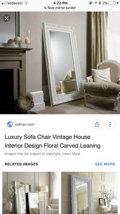 Luxury Sofa, Floor Mirror, Sofa Chair, Home Interior Design, Oversized Mirror, Flooring, Room, House, Vintage