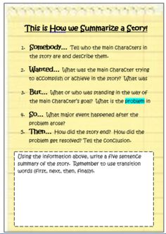 How to teach summarizing with reading alouds and an anchor chart! Subscribe to Receive tips, ideas and lessons like the right in your mailbox! Http://www.TeachWriteCreate.com