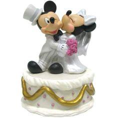 Mickey & Minnie Disney Wedding Cake Topper Figurine