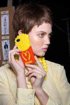 Lindsey Wixson Backstage, Moschino F/W Milan Fashion Week Lindsey Wixson, Cellular Level, Jeremy Scott, Lineup, Backstage, Moschino, Hair Makeup, Fall, Fashion