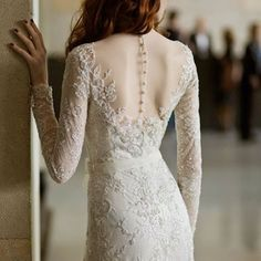 Seriously obsessed with long sleeve, detailed backing wedding dresses