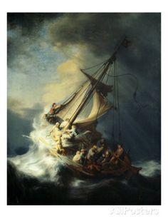 The Storm on the Sea of Galilee Giclée-Druck von Rembrandt van Rijn bei AllPosters.de