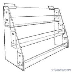 Slatwall or Countertop 3 Tier Acrylic Card Rack. This versatile card rack can either sit on a countertop or used on slatwall. The three tiers are 1 (where the cards sit). Brochure Holders, Slat Wall, Wardrobe Rack, Countertops, Cards, Literature, Home Decor, Products, Literatura