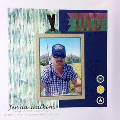 Jenna Watkins - Jenna watkins Crafty Corner, #stampinup #scrapbooking #tranqiltexuresdsp #memories&more Scrapbook Pages, Scrapbooking, Book Layout, Stampin Up, Dads, Corner, Memories, Crafty, Baseball Cards