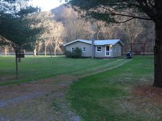 Cabin in Cammal, United States. The cabin property is bordered on the front with the Pine Creek Rails to Trail.   On the back there is easy access to the Pine creek for kayaking, inner tubing, swimming, etc.  You will want to bring regular size sheets, towels, toiletries, etc.  ...