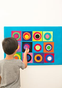 hello, Wonderful - DIY KANDINSKY CIRCLES FELT BOARD: ARTIST PROJECT FOR KIDS