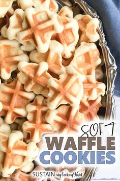 Put your waffle-iron to work and whip up these simple and delicious waffle cookies! Sweet, tender and chewy, they're sure to become a family favorite. Quick Cookies, Yummy Cookies, Ginger Cookies, Waffle Iron Cookies, Belgian Waffle Cookie Recipe, Easy Cookie Recipes, Dessert Recipes, Cookie Ideas, Chocolate Chip Shortbread Cookies