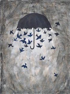 """Saatchi Art Artist Rebecca Rebouche; Painting, """"Birdstorm"""" #art"""