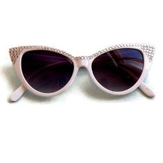 b24ace74907 Gorgeous white vintage inspired cat eye sunglasses with sparkly  rhinestones. Timeless design for pinups or