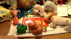 Dear Zoo story bag Dear Zoo Book, Stuffed Animals, Dinosaur Stuffed Animal, Traditional Tales, Home Learning, Play Ideas, Eyfs, Teaching Reading, Nursery Rhymes