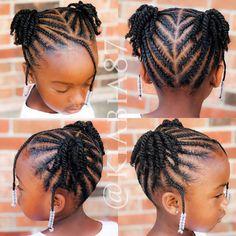 Little Girls Natural Hairstyles, Little Girl Braid Hairstyles, Toddler Braided Hairstyles, Black Kids Hairstyles, Little Girl Braids, Baby Girl Hairstyles, Braids For Kids, Girls Braids, Toddler Braids