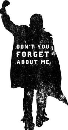 Arte alternativa do filme Clube dos Cinco, clássico dos anos 1980, dirigido por John Hughes. Don't You Forget About Me!