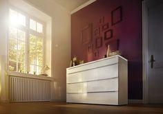 Kommode Alegro Style Polarweiß/Weißglas. Galerie   Nolte Möbel