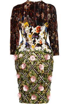 Mary Katrantzou Jewel Tree velvet dress via www.net-a-porter.com