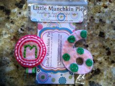 Birthday Bundle Personalized Felt Clippie Set by littlemunchkinpie, $14.00