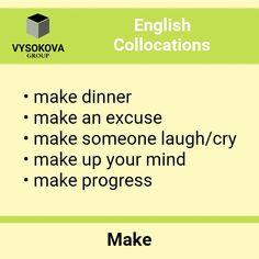 #English #learningenglish #language #collocations English Letter, English Verbs, Learn English Grammar, English Vocabulary Words, Grammar And Vocabulary, English Language Learning, English Writing, English Tips, English Lessons