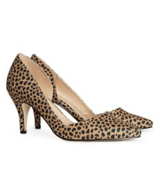 Leo patterned pumps. H&M #HMSHOES
