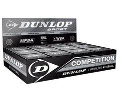 Competition Single Yellow Dot Dozen Pack - Squash Balls - Dunlop