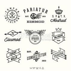Vector Art : vintage labels