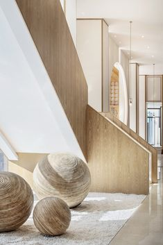 View full picture gallery of Tengchong Heshunli Sales Center And Villa Showroom Interior Staircase, Staircase Design, Porches, Sales Center, H Design, Villa Design, Modern Stairs, Stair Railing, Commercial Design