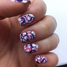 Straw dotted nails